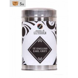 Té Negro English Earl Grey 40 Bolsitas Pirámide de 2,5 g. Pack 5 x 100 g
