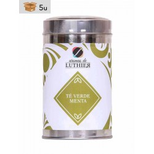 Grüner Tee Minze 40 Pyramiden-Tee-Aufgussbeutel mit je 2,5 g. Pack 5 x 100 g