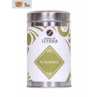 Grüner Tee Burokku 40 Pyramiden-Tee-Aufgussbeutel mit je 2,5 g. Pack 5 x 100 g