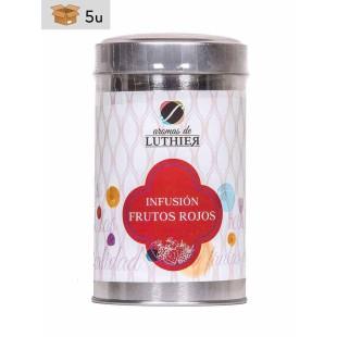 Früchtetee Rote Früchte 40 Pyramiden-Tee-Aufgussbeutel mit je 2,5 g. Pack 5 x 100 g