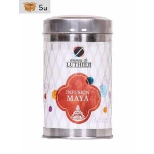 Früchtetee Maya 40 Pyramiden-Tee-Aufgussbeutel mit je 2,5 g. Pack 5 x 100 g