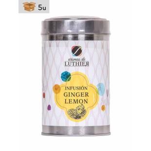 Ginger & Lemon Infusion 40 tea bags of 2,5 g. Pack 5 x 100 g