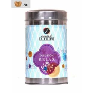Früchtetee Relax 40 Pyramiden-Tee-Aufgussbeutel mit je 2,5 g. Pack 5 x 100 g