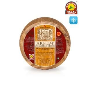 Cured PDO Manchego Cheese Akkem HALAL 3,3 kg