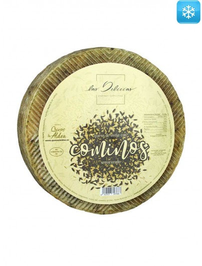 Semi-cured Sheep Cheese with Cumin Las Delicias 3 kg