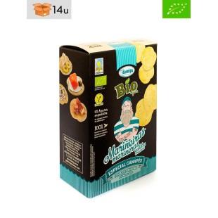 Organic Crackers with Algae Pack Daveiga. Pack 14 x 100 g