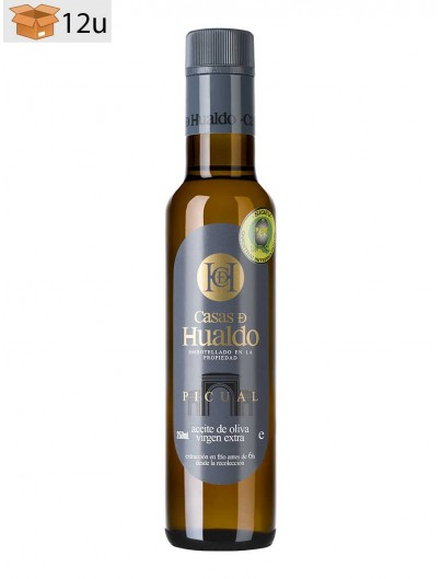 Picual Extra Virgin Olive Oil Hualdo. Pack 12 x 250 ml