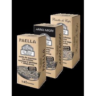 Pack De Irene Exquisita Paella, Schwarzer Reis und Steinpilz-Risotto